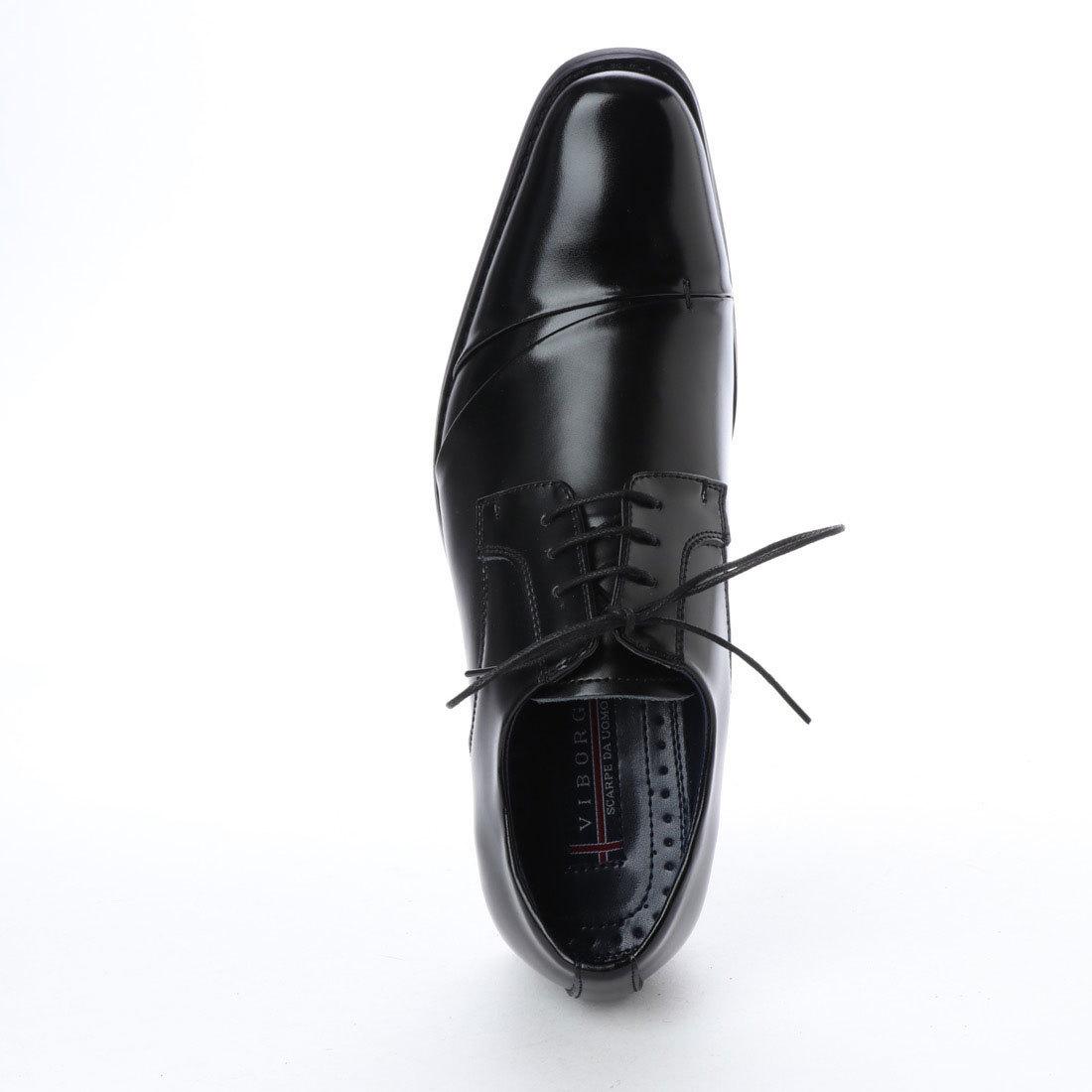 【アウトレット】【安い】【本革】【日本製】 VIBORGS メンズ ビジネスシューズ 紳士靴 革靴 VB-3110 ストレートチップ 紐 ブラック 26.0㎝