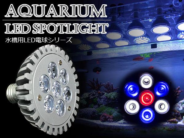 LED 電球 スポットライト 7W 青3白3赤1 水槽 照明 E26 観賞育成 LEDスポットライト 電気 水草 サンゴ 熱帯魚 観賞魚 植物育成_画像1