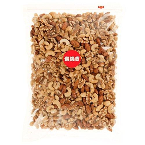 1kg ミックスナッツ 素焼きミックスナッツ 1kg 製造直売 無添加 無塩 無植物油 ( アーモンド カシューナッツ クルミ)_画像6
