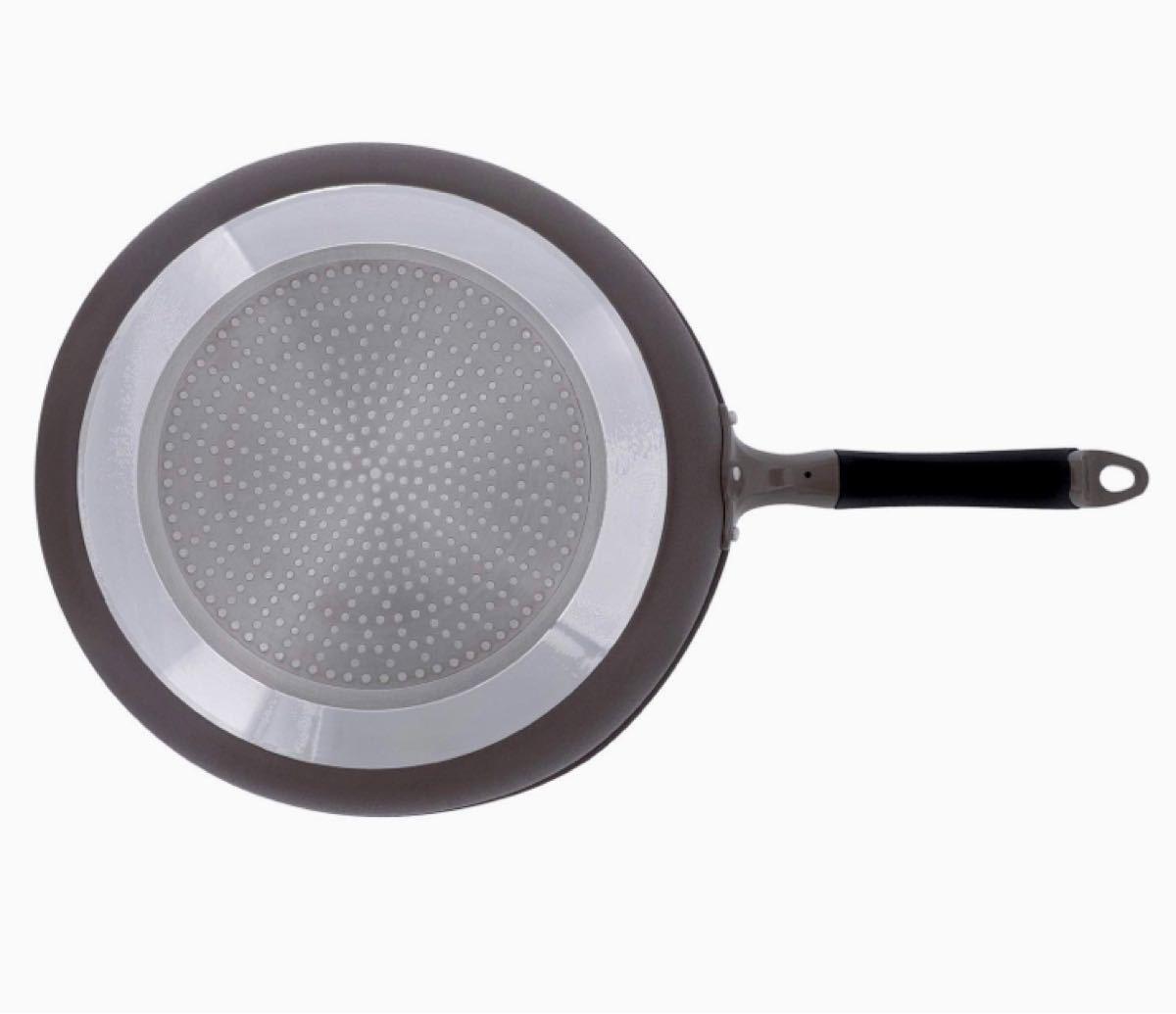 ベストコ(Bestco) IH対応 深型フライパン ダイヤモンドコート 32cm アリエッタネクスト アイスフラワーブラウン 新品