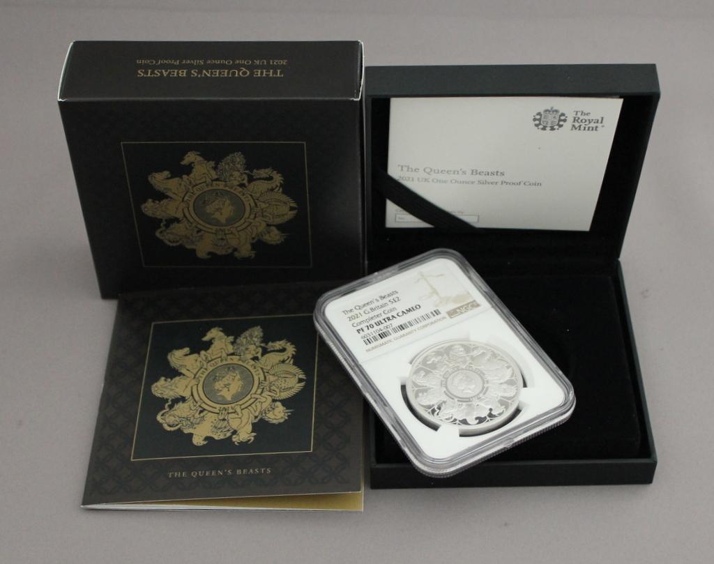 2021 イギリス クイーンズビースト コンプリーター 2ポンド 銀貨 NGC PF70UC 最高鑑定品!!_画像10