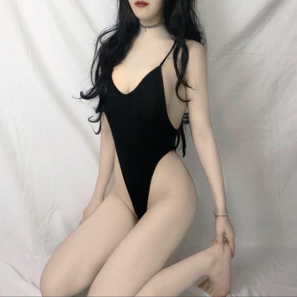 セクシーランジェリー sexy誘惑大胆 オープンクロッチスケスケレオタード風 コスプレ衣装 伸縮性 背中空き美ボディ ブランク