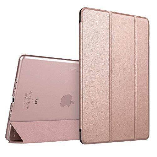 ローズゴールド ESR iPad Air2 ケース 軽量 薄型 オートスリープ スタンド機能 半透明ー PUレザー 傷つけ防止 _画像2