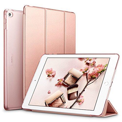 ローズゴールド ESR iPad Air2 ケース 軽量 薄型 オートスリープ スタンド機能 半透明ー PUレザー 傷つけ防止 _画像1