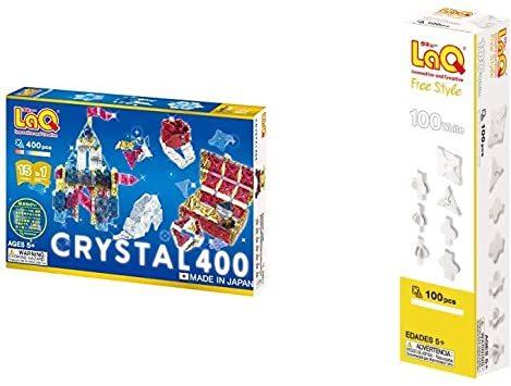 ラキュー (LaQ) クリスタル 400 & ラキュー (LaQ) フリースタイル(FreeStyle) 100ホワイト_画像1