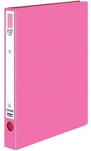 【未使用品】コクヨ リングファイルPP表紙A4縦2穴 ピンク×10冊セット_画像1