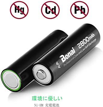 24個パック充電池 BONAI 単3形 充電池 充電式ニッケル水素電池 24個パック(超大容量2800mAh 約1200回使用可_画像3