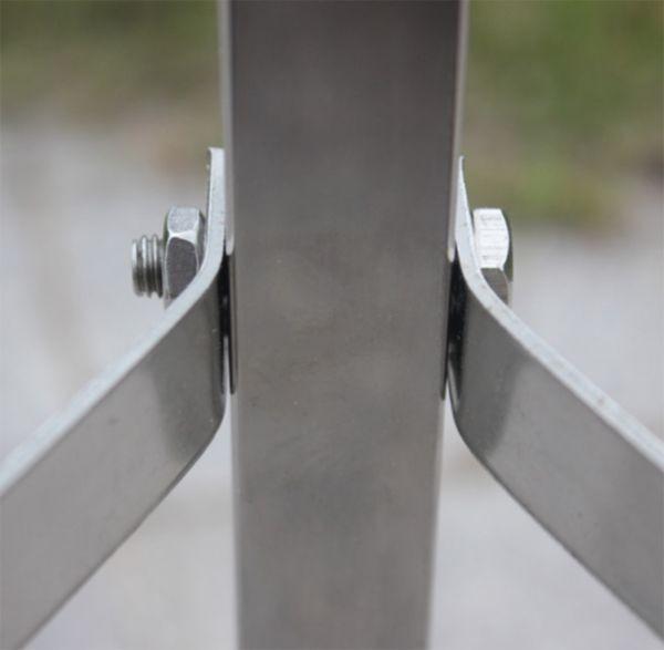 井戸 手押しポンプ用 架台 ステンレス製 高さ42Cm 水槽 ポンプ_画像3