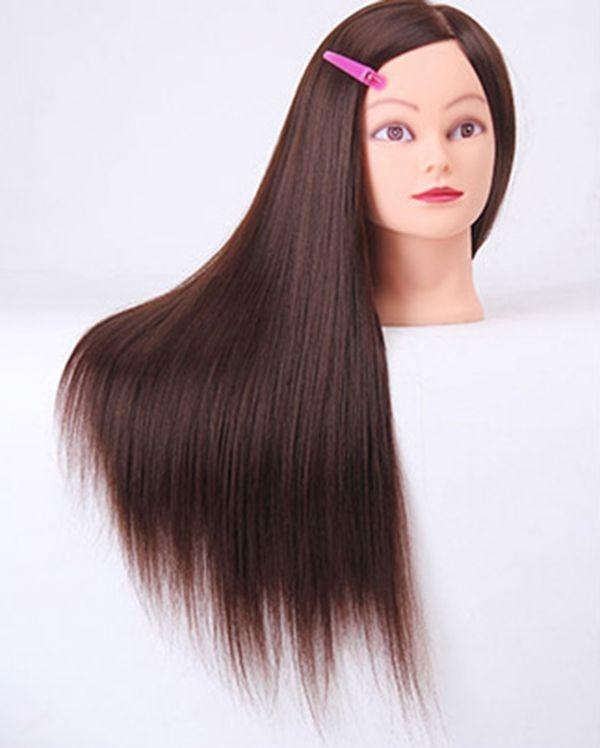 カットウィッグ カットマネキン モデルウィッグ マネキンヘット 高品質 練習用 カット用 編み込み練習 美容師 理容師_画像3