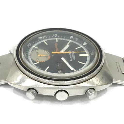 Seiko   5 Sports  наручные часы  6139-7020 SPEED TIMER ...  черный  циферблат   автоматически  скручивание    мужской   оригинальный  ремень   работа   SEIKO