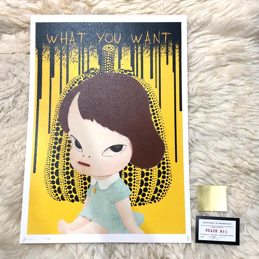 現代アート 世界限定100枚 2020年 新作正規品 DEATH NYC 奈良美智 NARAYOSHITOMO ロッタちゃん 草間彌生かぼちゃ ポップアート Banksy KAWS