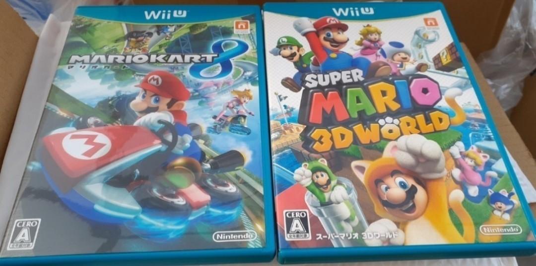WiiU マリオカート8+スーパーマリオ3Dワールド 動作確認済み 送料無料