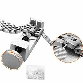 時計修理 電池交換 時計工具 腕時計ベルト調整 バンド調整 時計道具セット 腕時計修理工具 収納ケース付き 時計用工具キット_画像8