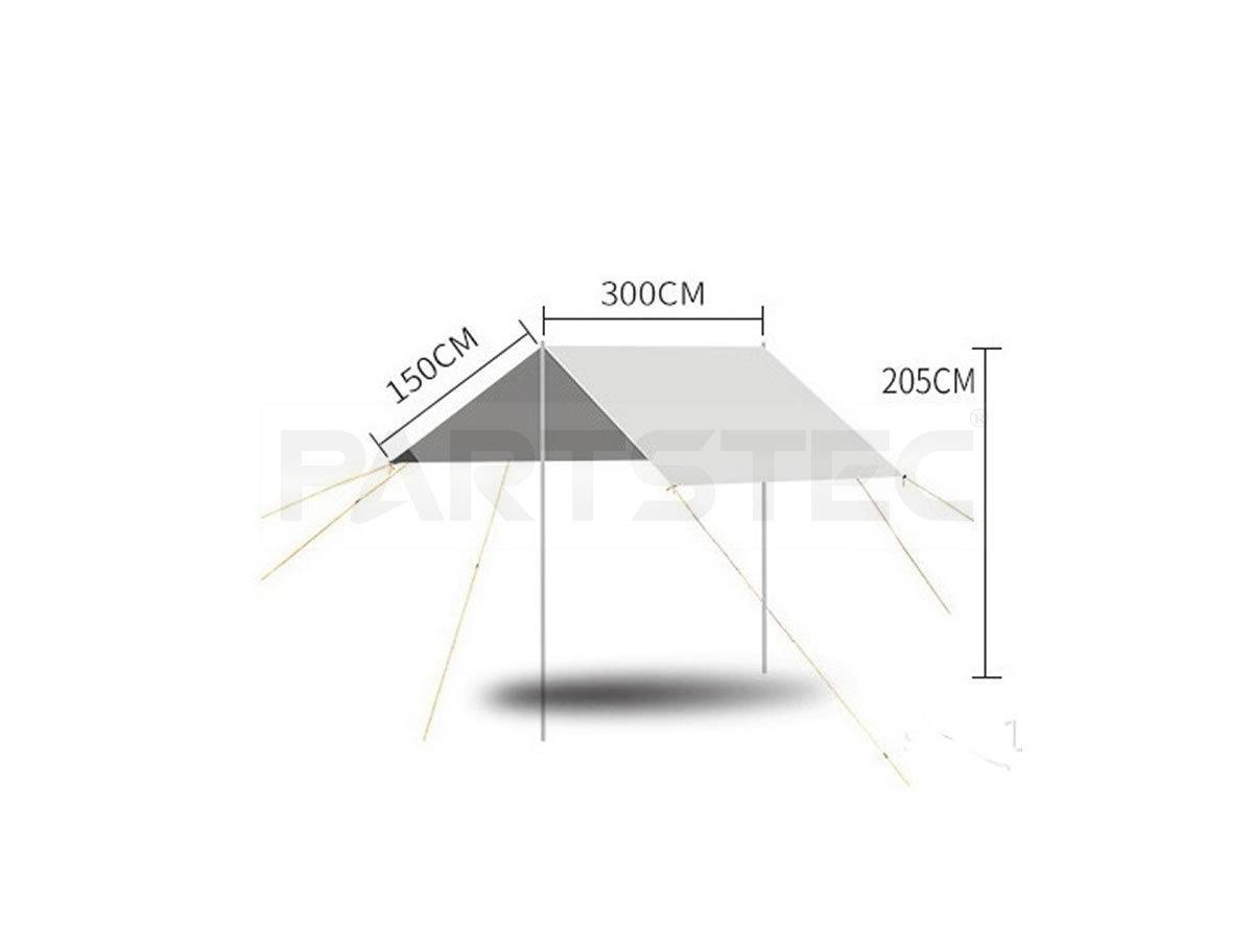 簡単設営 タープ テント 防水 UVカット 日よけ 日除け グリーン コンパクト収納 アウトドア キャンプ 車 3m×3m /93-589 NC*