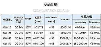 残り1個★ OW25(8500L/H) METIS OW25 ウェーブポンプ 水流ポンプ 水中ポンプ 水槽ポンプ アクアリウム ワイヤレス_画像9