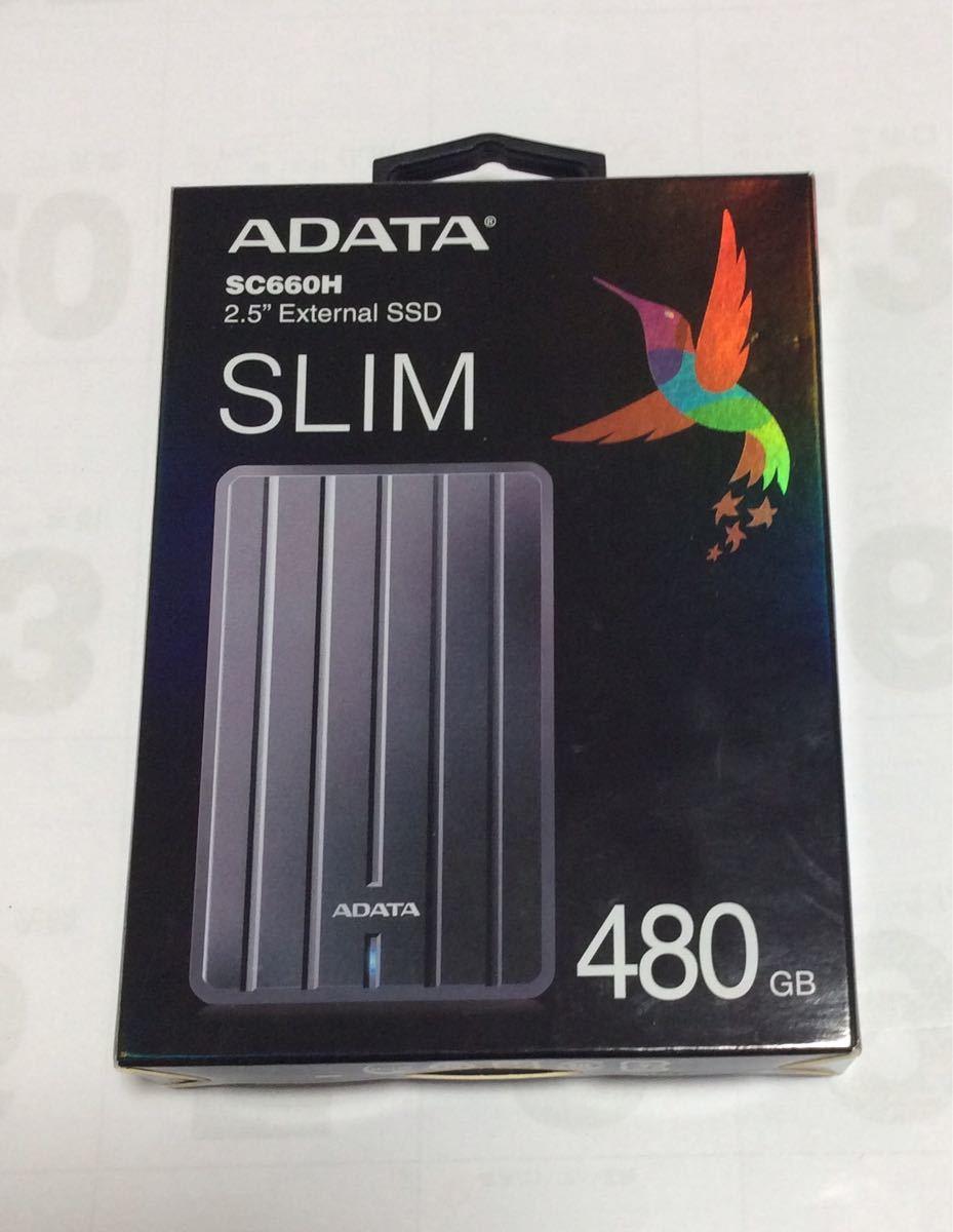 ポータブルハードディスク480GB ADATA SC660H