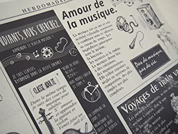 カラー/モノクロ 包装紙 おしゃれ フランス新聞紙風 50枚入_画像2