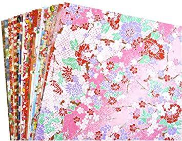 20枚Aタイプ 【Amazon.co.jp 限定】和紙かわ澄 千代紙 友禅和紙 B4 判 約25.7×36.4cm _画像1