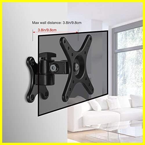 モニター テレビ壁掛け金具 モニターアーム 壁掛け 14-27インチ LCDLED液晶テレビ対応 アーム式 回転式 左右移動式 角度調節 (一関節)_画像7
