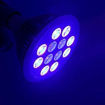 ☆新品☆ LED アクアリウムライト 24W 青8 紫外線4 水槽照明 水草 サンゴ 熱帯魚 観賞魚 植物育成_画像4