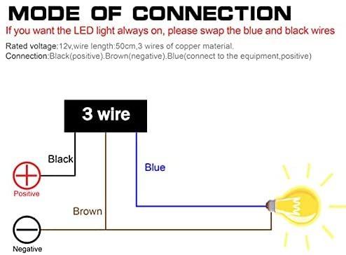 【限界価格!】 ★サイズ:22mm_色:青い★ ヘッドライトフォグスポットライトON/OFFスイッチ 防水 16V 22mmハンドルバーオートバイ用_画像7