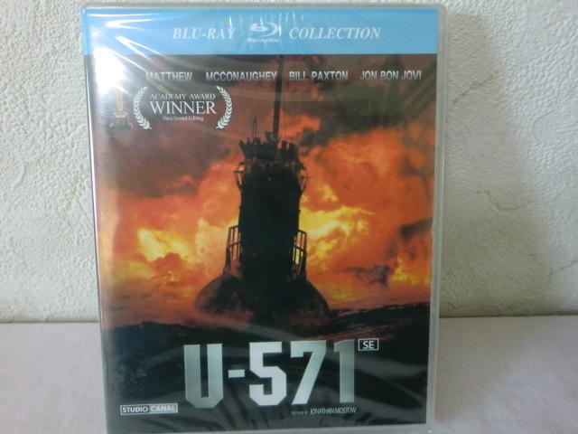 未開封品【同封有】送料160円 Blu-ray 輸入盤 u-571 ブルーレイ CLBD-065 日本語字幕入/HDリマスタリング 117分_画像1