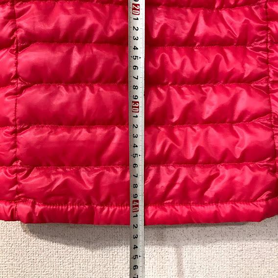【美品】ユニクロ UNIQLO ダウンジャケット ウルトラライトダウン ジャケット 女の子 110 アウター 防寒 軽量 ピンク UNIQLO ダウンジャ_画像5