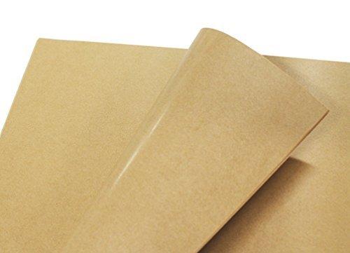 フジパック クラフト紙 片面ツヤ加工 ラッピング 包装紙 100枚_画像1