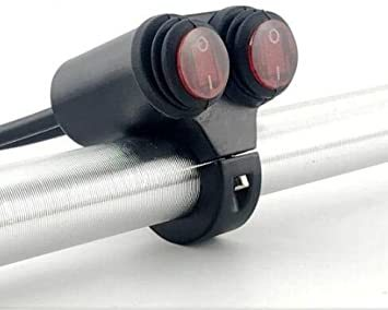 22MM防水スイッチ ヘッドライトフォグスポットライトON/OFFスイッチ 防水 12V 22mmハンドルバーオートバイ用 赤色_画像6