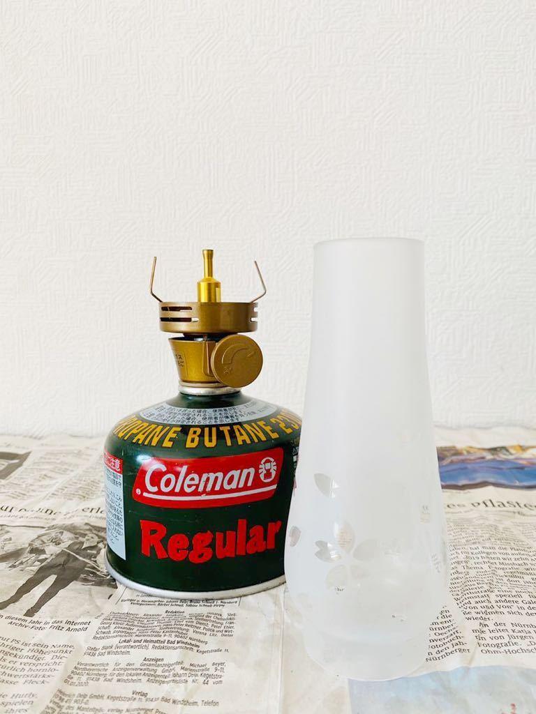 《送料込み!》【ルミエールランタンに使える桜が舞うグローブ】コールマン Coleman ガス缶 OD缶 ホヤ スペア キャンドル トーチ