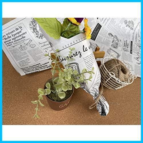 【送料無料-特価】 お花やプレゼント,ギフト商品のラッピングに! フランスの新聞紙風プリント 【ノーブランド】 G1417 100枚 包装紙 英字_画像5