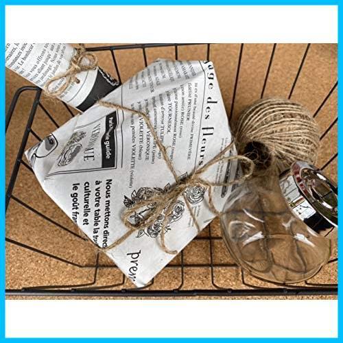 【送料無料-特価】 お花やプレゼント,ギフト商品のラッピングに! フランスの新聞紙風プリント 【ノーブランド】 G1417 100枚 包装紙 英字_画像6