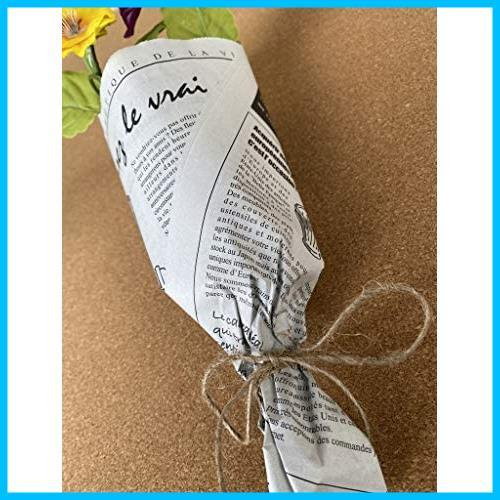 【送料無料-特価】 お花やプレゼント,ギフト商品のラッピングに! フランスの新聞紙風プリント 【ノーブランド】 G1417 100枚 包装紙 英字_画像7