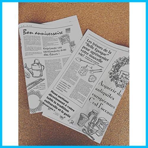 【送料無料-特価】 お花やプレゼント,ギフト商品のラッピングに! フランスの新聞紙風プリント 【ノーブランド】 G1417 100枚 包装紙 英字_画像8