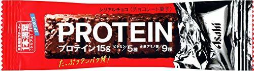 1個 (x 9) アサヒグループ食品 1本満足バープロテインチョコ 1本×9本_画像1