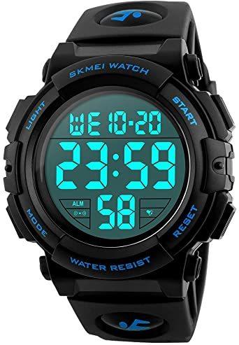 2-ブルー 腕時計 メンズ デジタル スポーツ 50メートル防水 おしゃれ 多機能 LED表示 アウトドア 腕時計(ブルー)_画像1