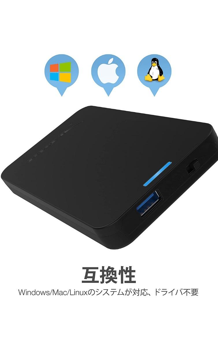 大容量のUSB3.0外付けポータブルHDD1TB(HDD WD)