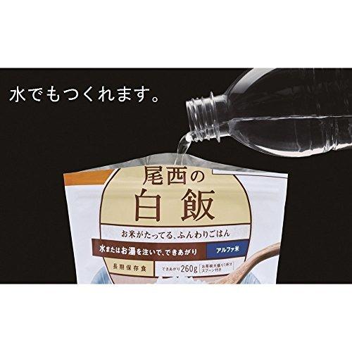 尾西食品 アルファ米 白飯100g×5食_画像3