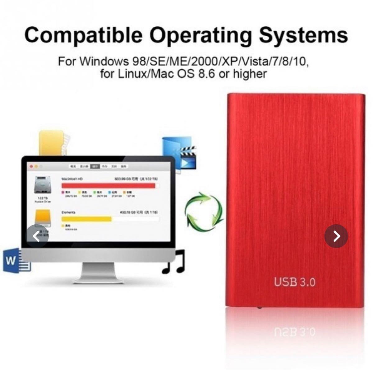 ポータブルSSD 2TB ブルー 外付け 小型 軽量 SSD ポータブルSSD ポータブル SSD