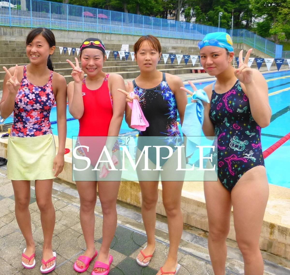 S35 生写真 水泳 水着 スク水 競泳水着 女子 L判 L版 女子アスリート 高画質 グラビア スポーツ_画像1