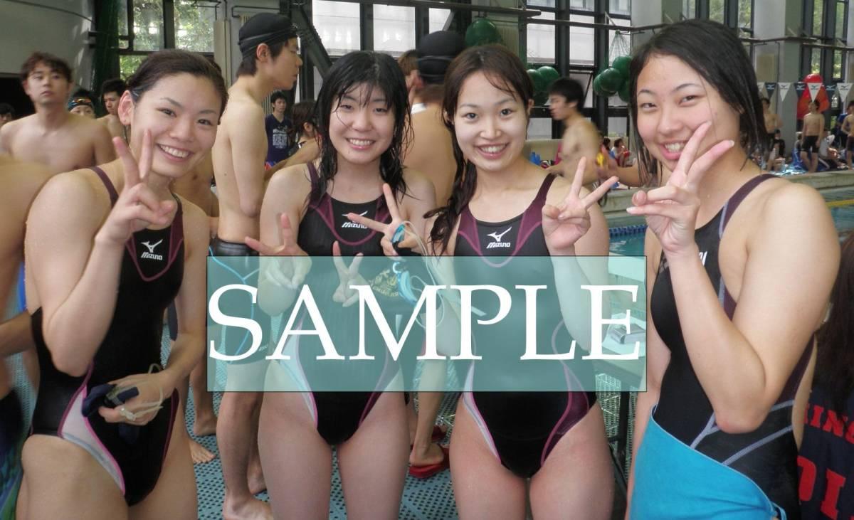 S38 生写真 水泳 水着 スク水 競泳水着 女子 L判 L版 女子アスリート 高画質 グラビア スポーツ_画像1