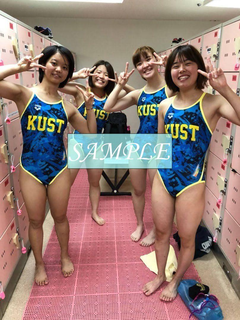 S1 生写真 水泳 水着 スク水 競泳水着 女子 L判 L版 女子アスリート 高画質 グラビア スポーツ_画像1