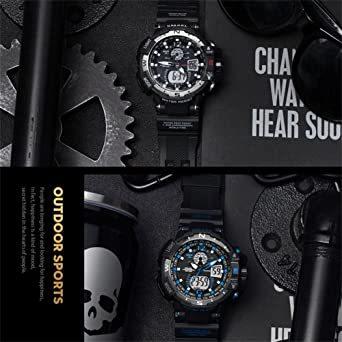 腕時計 メンズ SMAEL腕時計 メンズウォッチ 防水 スポーツウォッチ アナログ表示 デジタル  多機能 ミリタリー ライト時_画像8