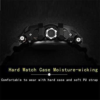 腕時計 メンズ SMAEL腕時計 メンズウォッチ 防水 スポーツウォッチ アナログ表示 デジタル  多機能 ミリタリー ライト時_画像7
