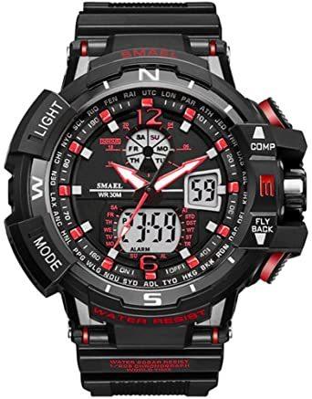 腕時計 メンズ SMAEL腕時計 メンズウォッチ 防水 スポーツウォッチ アナログ表示 デジタル  多機能 ミリタリー ライト時_画像1