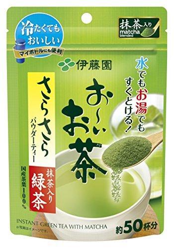 緑茶 40g おーいお茶 抹茶入りさらさら緑茶 (袋タイプ) 40g 伊藤園 (チャッ_画像4