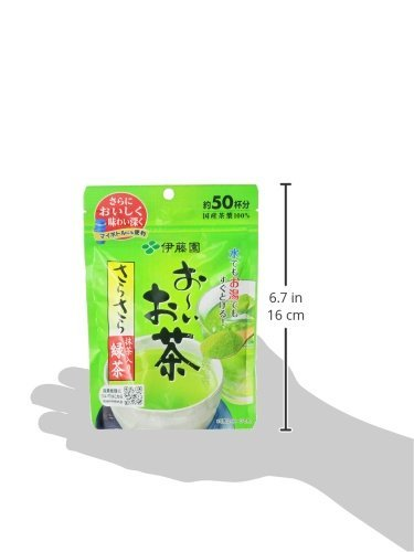 緑茶 40g おーいお茶 抹茶入りさらさら緑茶 (袋タイプ) 40g 伊藤園 (チャッ_画像3