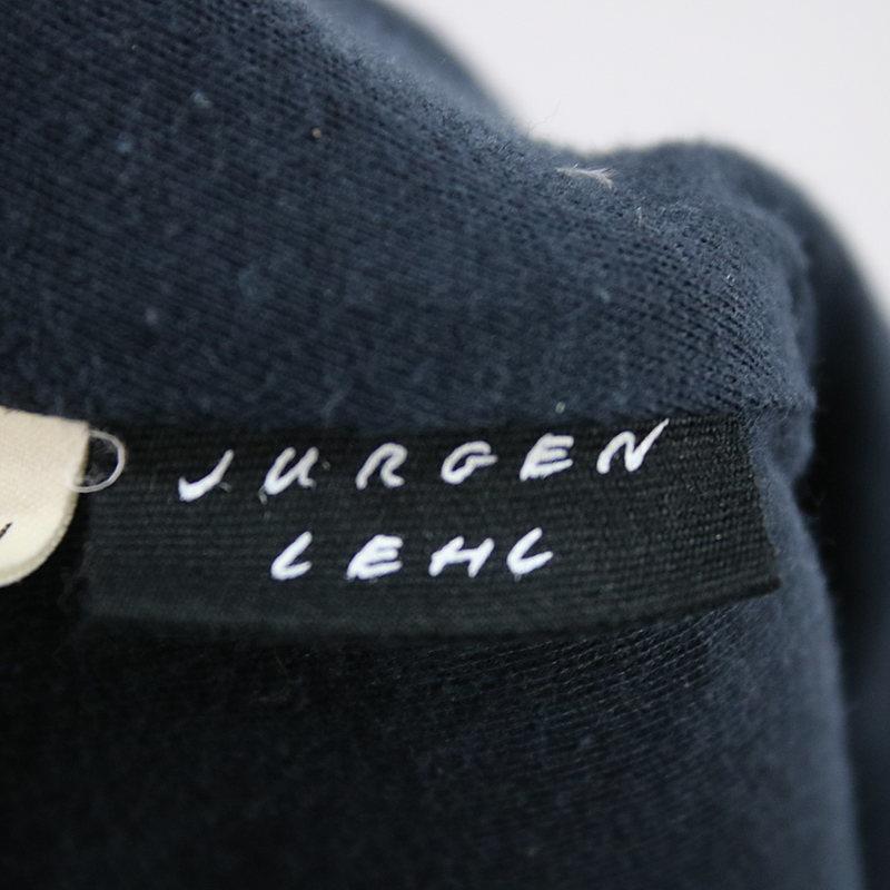 JURGEN LEHL / ヨーガンレール | ウールツイル くるみボタン ハイネック フレアコート | M | チャコール | レディース_JURGEN LEHL / ヨーガンレール | ウールツ