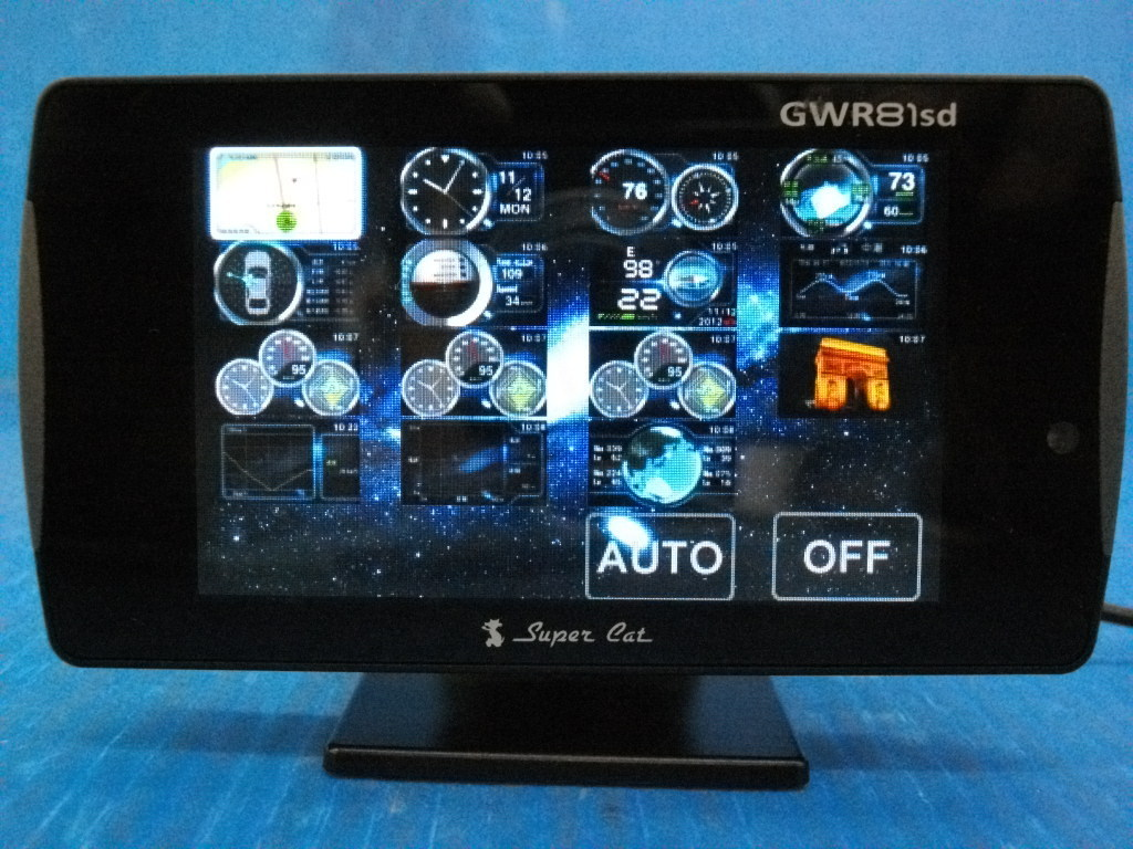 D【0000】Yupiteru ユピテル ワンボディタイプのGPS&レーダー探知機 SUPER CAT スーパーキャット GWR81sd みちびき対応_画像2