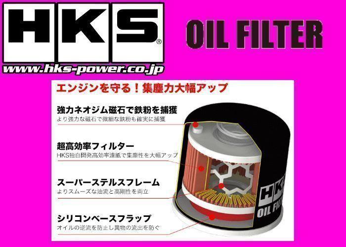 送料無料 新品 HKS オイルフィルター 1個 (タイプ7) ラクティス NCP105 H17/9~H22/11 1NZ-FE 52009-AK011_画像2